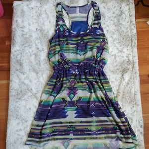 Xhiliration Racerback Print Dress- Size M